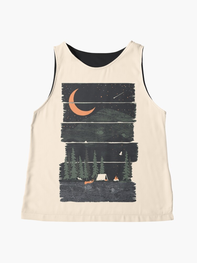 Alternate view of Wish I Was Camping... Sleeveless Top