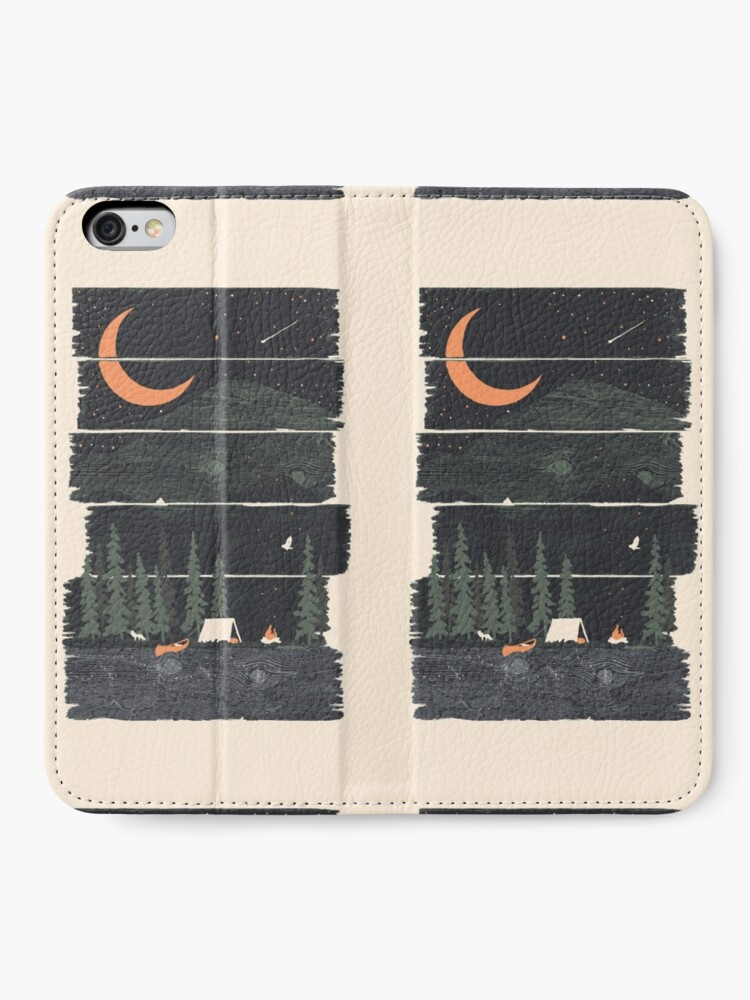 Alternate view of Wish I Was Camping... iPhone Wallet