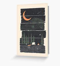 Ich wünschte, ich wäre Camping ... Grußkarte