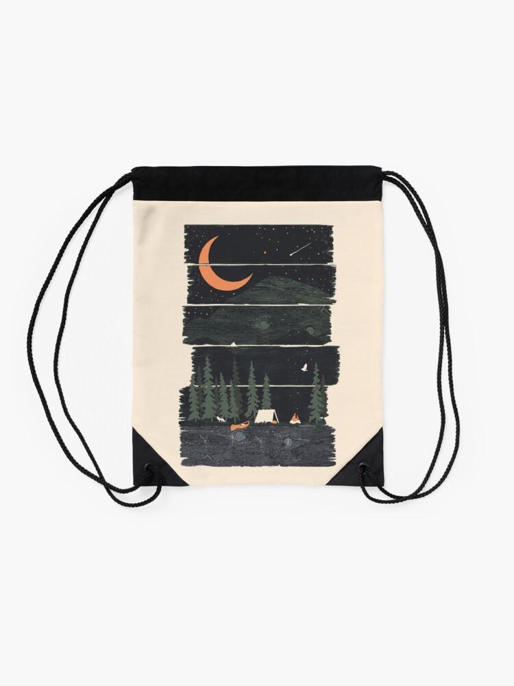 Alternate view of Wish I Was Camping... Drawstring Bag