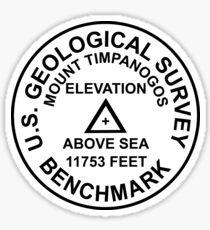 Mount Timpanogos, Utah USGS Style Benchmark Sticker
