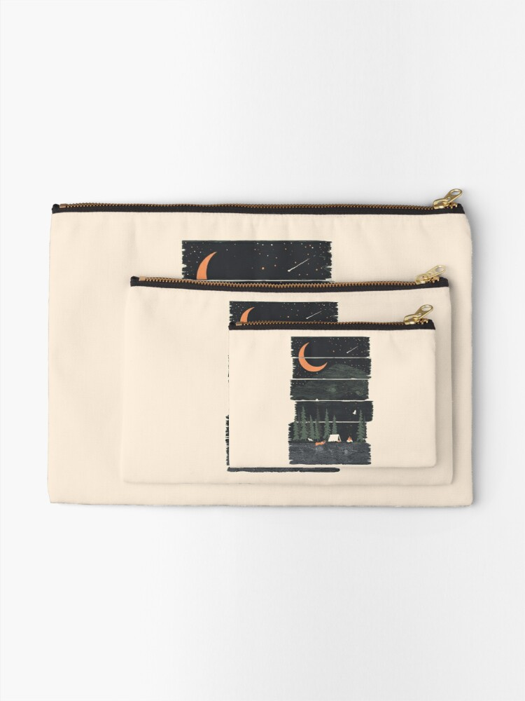Alternate view of Wish I Was Camping... Zipper Pouch