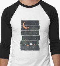 Camiseta ¾ estilo béisbol Ojalá estuviera acampando ...