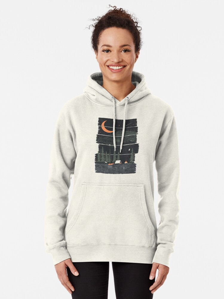 Alternate view of Wish I Was Camping... Pullover Hoodie