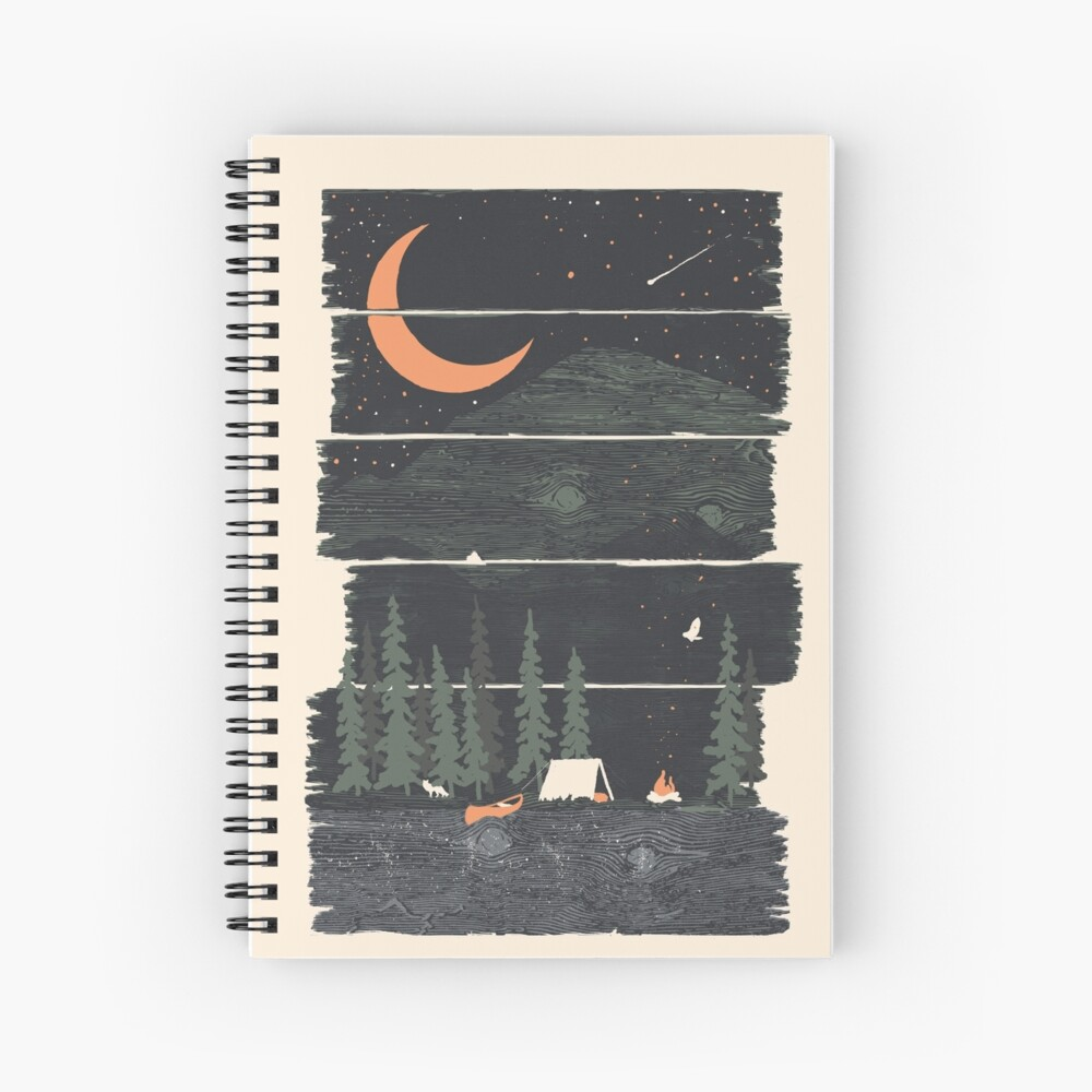 Wish I Was Camping... Spiral Notebook