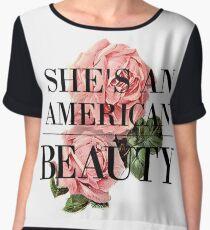 AMERICAN BEAUTY Women's Chiffon Top
