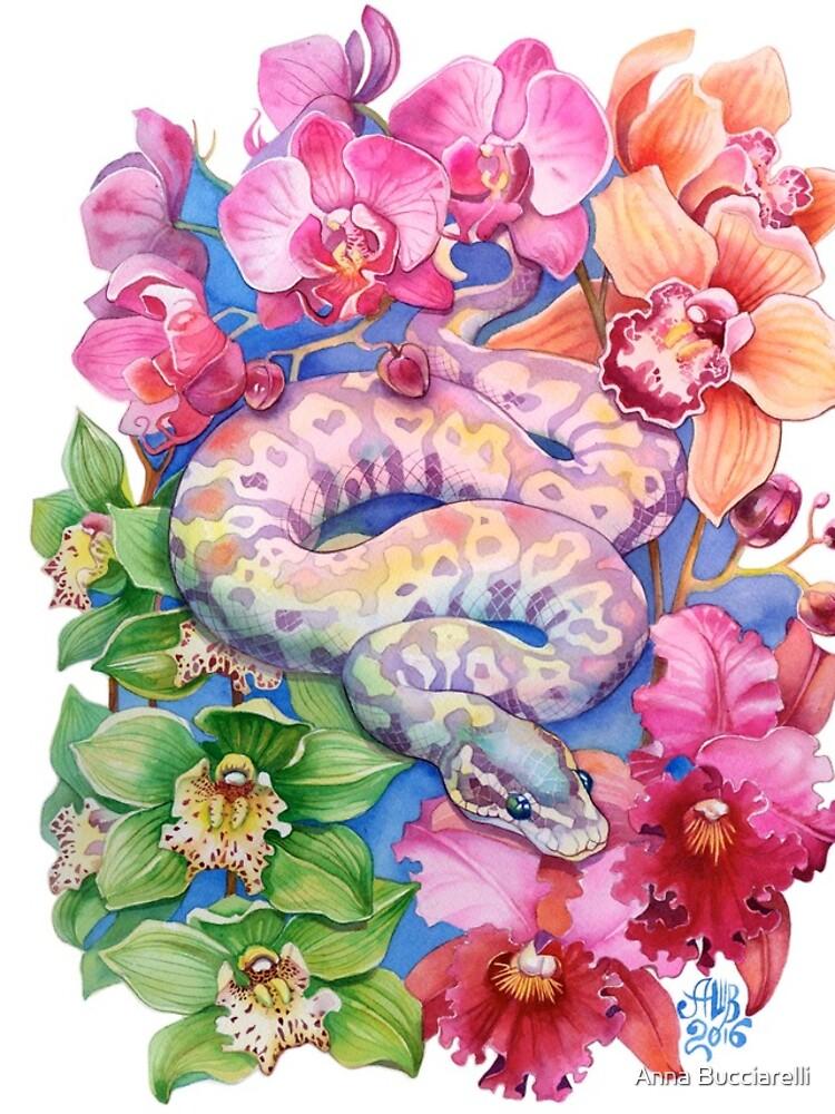 """Year of the Snake"" - Chinese Zodiac Watercolour  by annabucciarelli"