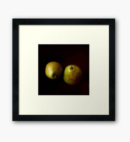 A Green Pair Framed Print