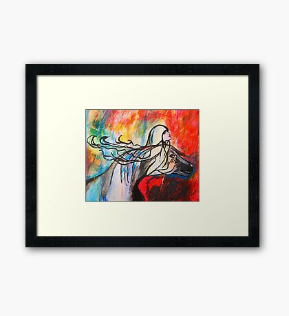 Chasing The Rain Framed Print