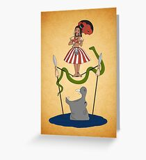Jungle Cruise vs. Haunted Mansion Greeting Card
