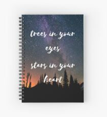trees in your eyes Spiral Notebook