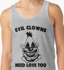 Humor - Evil Clowns Need Love Too Men's Tank Top