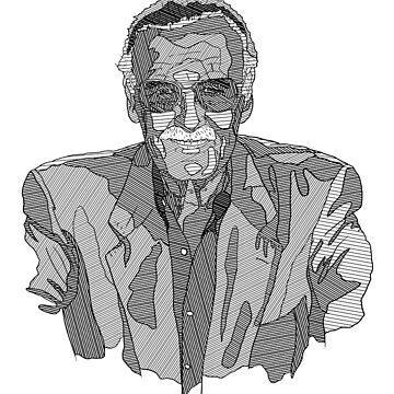 Stan Lee Linework by Matti-walker