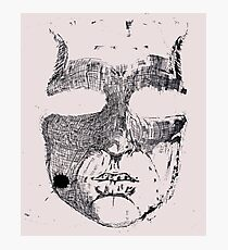 Face ink Sketch Photographic Print