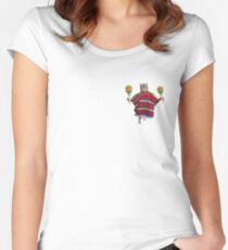 meow-sician  Women's Fitted Scoop T-Shirt