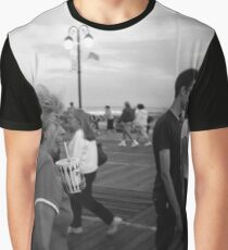 Woman on the Boardwalk Graphic T-Shirt
