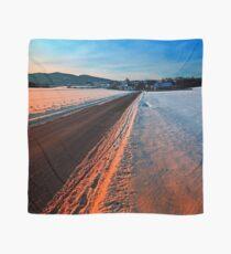 Winter road at sundown Scarf
