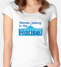 Women belong in the house - the White House. Women's Fitted Scoop T-Shirt