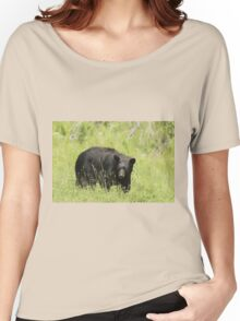 Black Bear in a pasture Women's Relaxed Fit T-Shirt