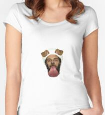 Osama Bin Puppy  Women's Fitted Scoop T-Shirt