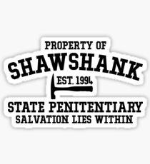 Shawshank State Penitentiary - Shawshank Redemption  Sticker