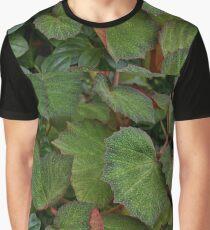Lush Large Leaf Begonia  Graphic T-Shirt