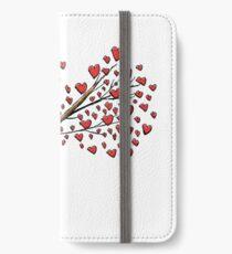 Cute Sleeping Koala on Tree with Hearts iPhone Wallet/Case/Skin