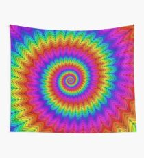 Psychedelic Rainbow Spiral  Wall Tapestry