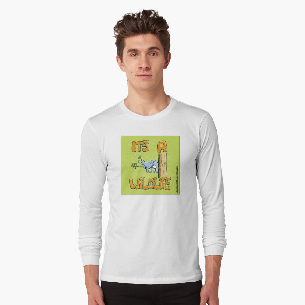 It's a Wildlife - Sleeping Koala Long Sleeve T-Shirt