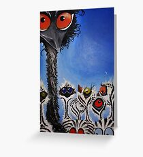 Daddy Emu Greeting Card