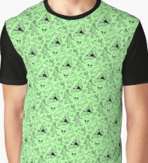 Cryptid Pattern (Green Background) Graphic T-Shirt
