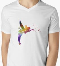 Tinkerbell in watercolor Men's V-Neck T-Shirt