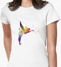 Camiseta entallada para mujer Tinkerbell en acuarela
