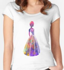 Anna in watercolor Women's Fitted Scoop T-Shirt