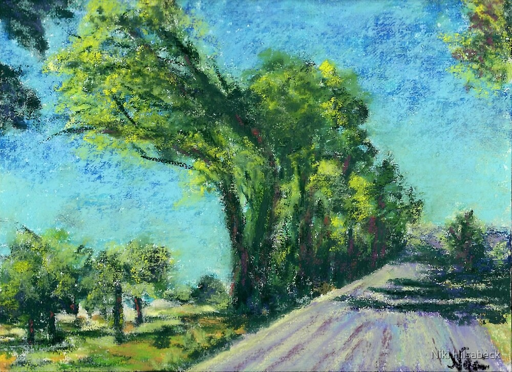 The Road to Reno (Pastel) by Niki Hilsabeck