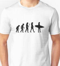 Surfing Lustige Frauen Evolution Shirt Slim Fit T-Shirt