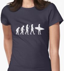 Women's Surfing T Shirt Evolution Silhouette Women's Fitted T-Shirt