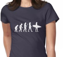 Women's Surfing T Shirt Evolution Silhouette Womens Fitted T-Shirt