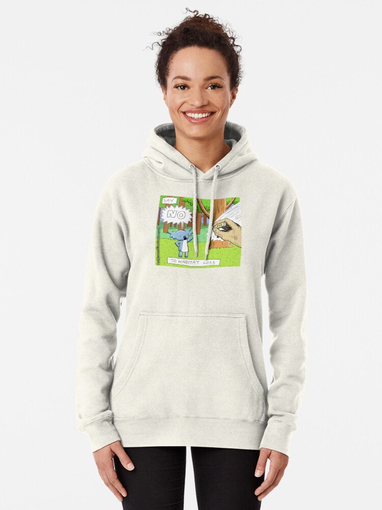 Alternate view of Koala Says No to Habitat Loss Pullover Hoodie