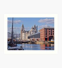 Picture Postcard Liverpool Waterfront Art Print