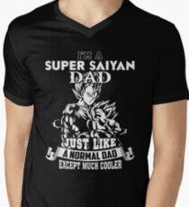 Dad - I'm A Super Saiyan Dad Just Like A Normal Dad T-shirts Men's V-Neck T-Shirt