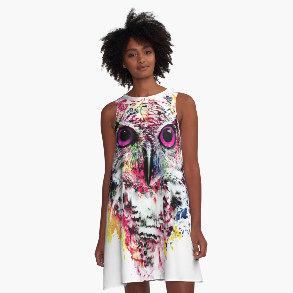 Eule A-Linien Kleid