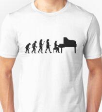 536e85aa0f Women's Piano T Shirt Evolution Of The Pianist Slim Fit T-Shirt
