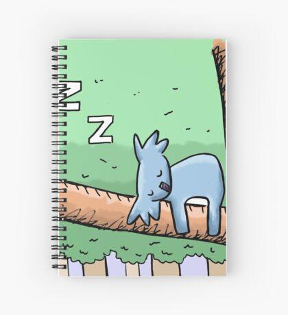 Cute Sleeping Koala Spiral Notebook