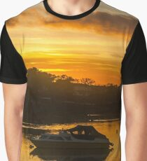 Sunset River Scenic Graphic T-Shirt