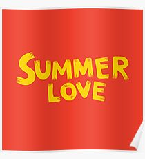 Summer love lettering expression Poster