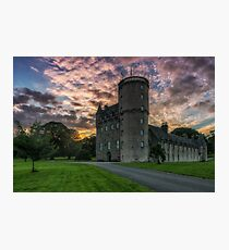 Castle Fraser and Gardens at Sunset - Aberdeenshire Photographic Print