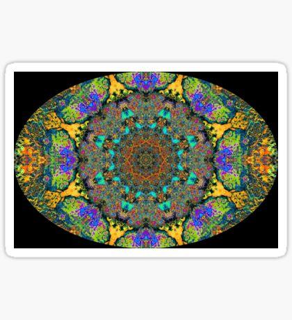 Barnie Paw Prints Kaleidescope 12 Sticker