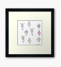 Cute design of cute mens Framed Print