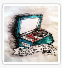 LOU REED LYRIC BANNER WITH RECORD PLAYER  Sticker